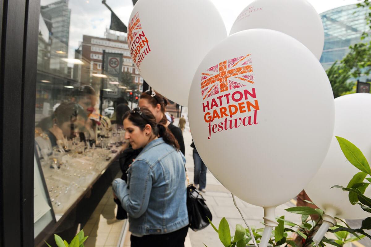 Hatton Garden Festival branding by Broadbase