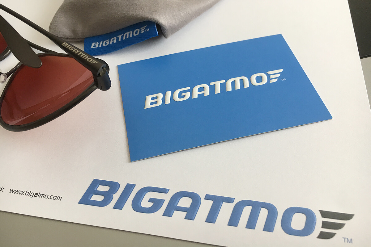 Bigatmo sunglasses branding by Broadbase