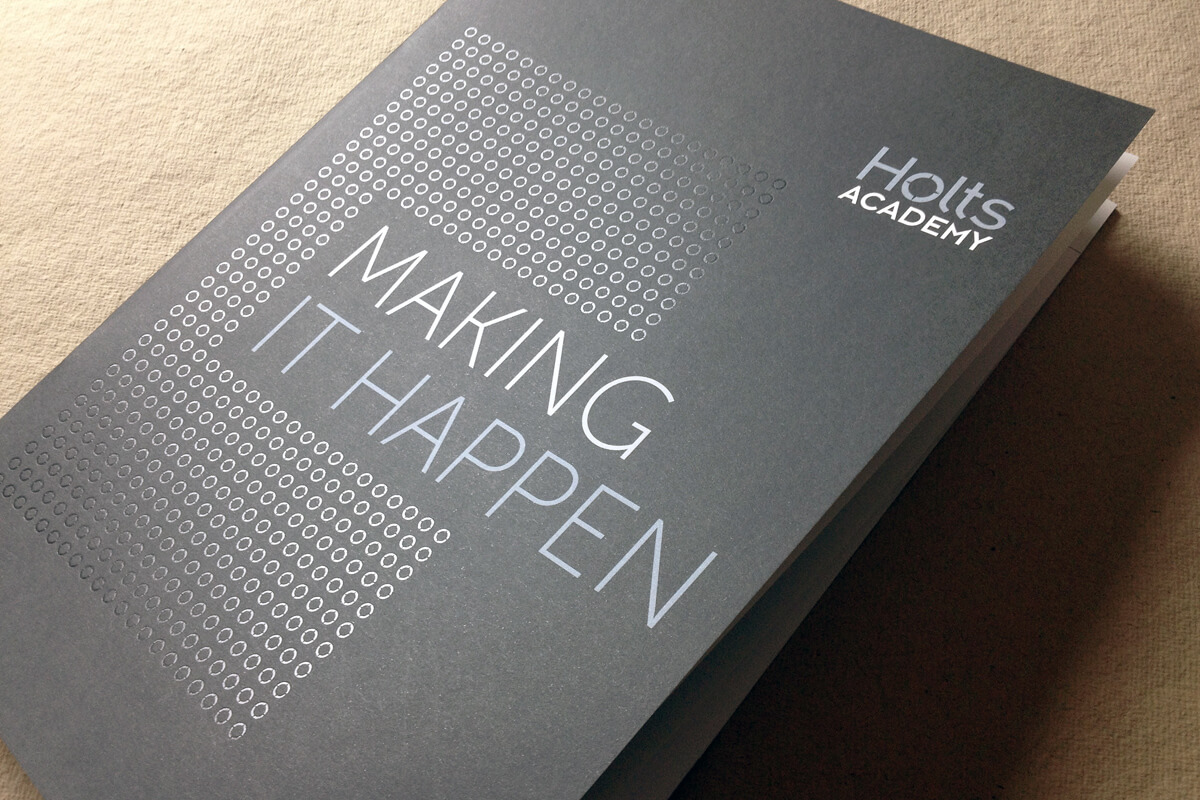 Print collateral: report designed by Broadbase