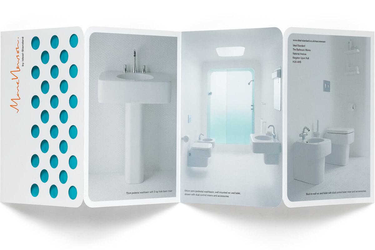 Concertina brochure, design by Broadbase