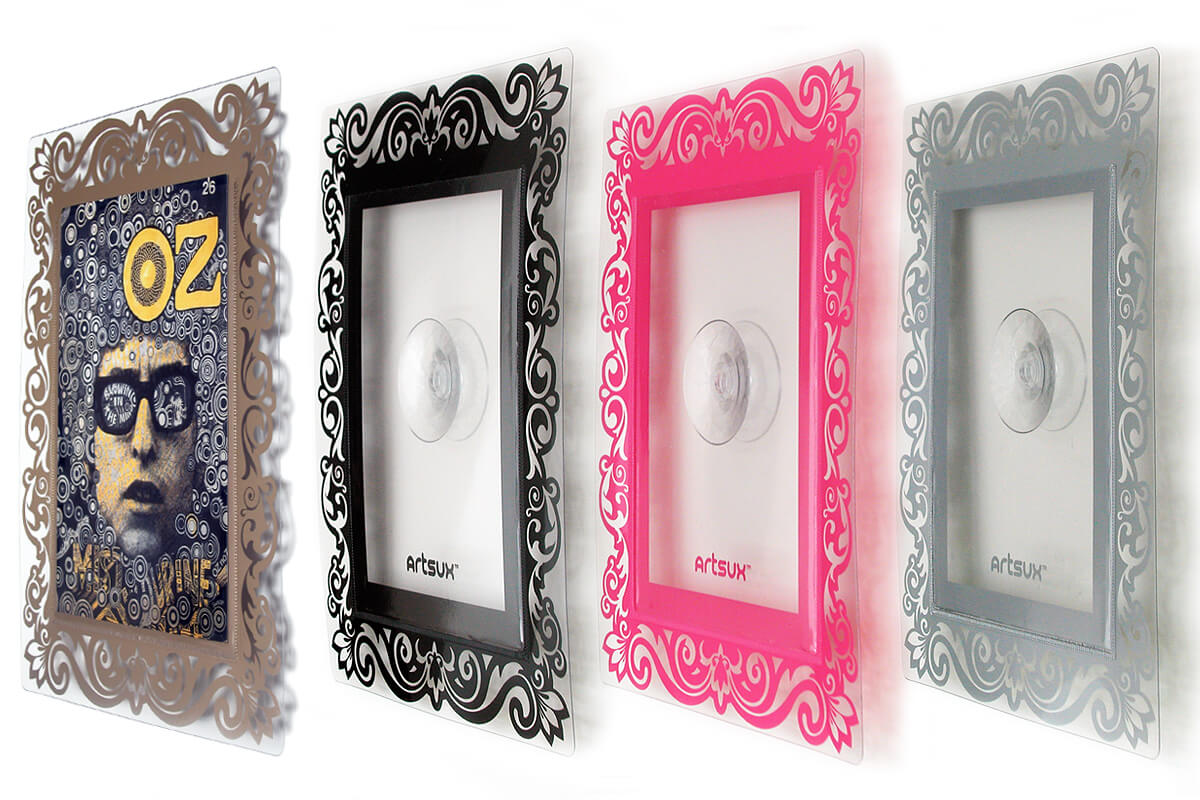 Artsux frames, product design by Broadbase